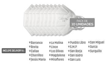 Caja de 10 mascarillas kn95 de 5 capas con Delivery en 24 horas