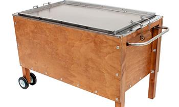 Caja China GRANDE de ACERO INOXIDABLE + parrilla + DELIVERY (outdoors)