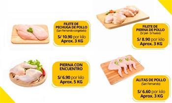 Pollo, cerdo, res, pavita: filetes, chuleta, panceta, corazón de res, mondongo y más