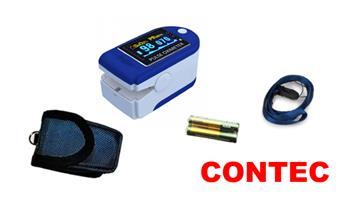 Pulsioxímetro CONTEC + estuche + pilas ¡Incluye delivery en 24 horas!