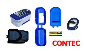 Pulsioxímetro CONTEC + estuche + silicona + pilas ¡Incluye delivery entre 24 o 48 horas!
