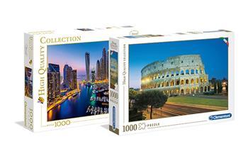 Rompecabezas Clementoni VIAJES de 1000 piezas modelo a elegir + delivery