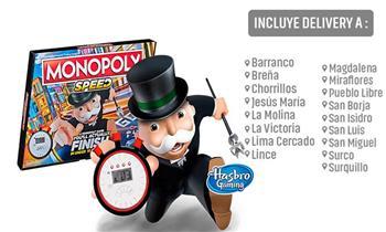 Juego Monopoly Speed Hasbro Games® + delivery ¿Sin tiempo para jugar? ¡Este es tu juego!