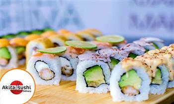 20 cortes de makis + gaseosa 500ml. Elige dos sabores de la carta en Akita Sushi