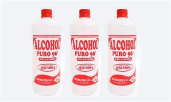 03 frascos de Alcohol al 70% 0 96% de 1 LT Jenfarma.¡Alta pureza!