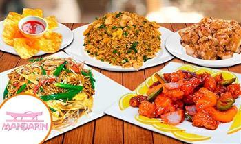 ¡Banquetes Familiares del Restaurant Internacional Mandarín, válido para llevar o salón!