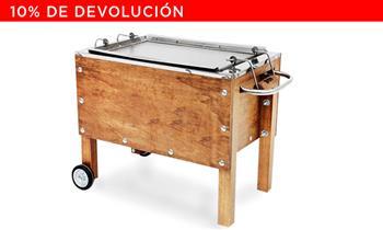 Caja China MEDIANA de ACERO INOXIDABLE. 60x50x30. Incluye Delivery! (outdoors)