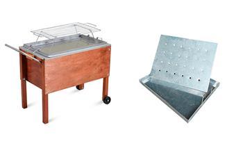 Caja china CHICA galvanizada + Parrilla Mixta ¡Incluye Delivery! (outdoors)