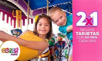 2 tarjetas Coney Park con 1 hora de juegos cada una. ¡Muestra el cupón desde tu celular!