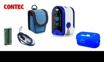 Pulsioxímetro CONTEC + estuche + silicona + pilas ¡Incluye delivery en 24 horas!