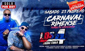 SOLO HOY: 2x1 Los 4 de Cuba en el CARNAVAL RIMENSE