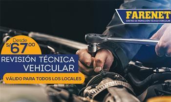 FARENET Revisión técnica (todos los locales de Lima) Muestra el cupón desde el móvil