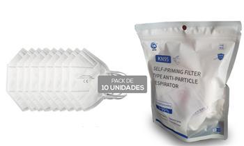 Caja o Pack de 10 mascarillas kn95 de 5 capas con Delivery en 24 horas