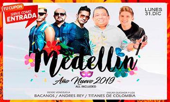 Entrada VIP-Fiesta Fin de Año en el Sur TODO incluido: Los Bacanos, Los Titanes y más