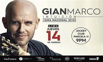GIAN MARCO en concierto, este 14 de febrero en el Jockey Club. Zona a elegir