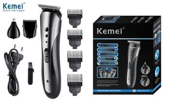 Maquina para cortar cabello 3 en 1 KEMEI inalámbrica, recargable - Barba, Nariz y Orejas