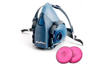 Respirador de media cara facial Fly flex + 2 filtros Niosh P100 + delivery