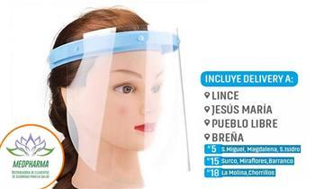 Visor facial protector con 2 micas de repuesto para niñ@s y adultos ¡Incluye delivery!
