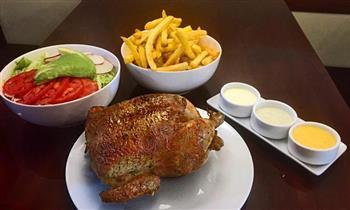 Pollo a la brasa + papas + ensalada