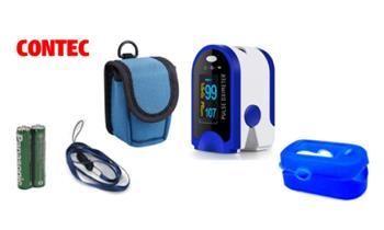 Pulsioxímetro CONTEC Original + estuche + silicona + pilas. Incluye delivery en 24 horas!