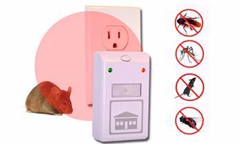 1 repelente ultrasonido que ahuyenta insectos, roedores y más