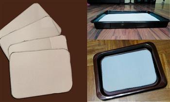 4 Repuestos de esponja laminada de doble tela para bandejas - delivery incluido