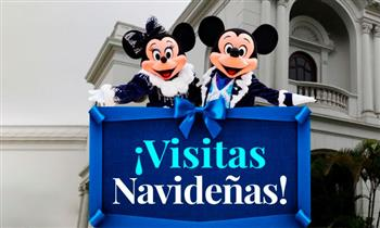 """Visitas Navideñas al Castillo"" donde te esperan Mickey, Minnie, Santa Claus y muchos más."