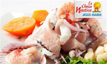 Trío marino para 2: cebiche de pescado + arroz con mariscos y más