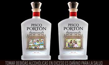 Botella de pisco Portón personalizada con la foto que gustes