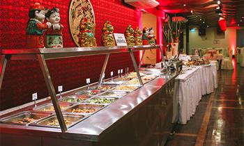 Almuerzo o cena Buffet Internacional + gaseosa en Kuo Wha Restaurant Oriental