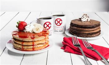 Desayuno con plato + bebida a elección para uno, dos o cuatro personas