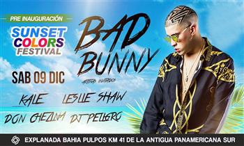 Bad Bunny - Sunset Color Festival: entrada Preferencial, Super VIP o Platinium