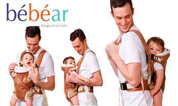 Surco: porta bebe Bebear 3en1, 3 posiciones para llevar al bebe, en 2 colores a elegir