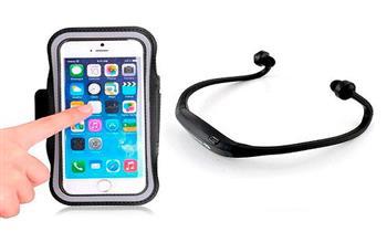 Kit Audífonos Bluetooth Smartphone+ Brazalete Deportivo