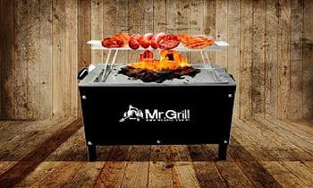 Caja china + parrilla black edition 2 en 1 chica o mediana jr en MR. GRIL