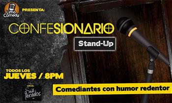 "Miraflores: 2 Covers + cockteles para Show ""Confesionario"" Stand-Up"