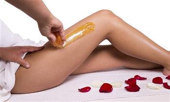 Depilación con cera de miel en piernas