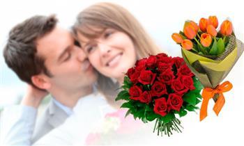 Ramo o caja de rosas + chocolates + peluche y más