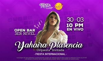 Open Bar + 1 entrada al show de Yahaira Plasencia  en el  SALSA'S BAR & GRILL