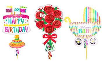 Globo con helio seleccionados Amor, Bebe y Happy Birthday a elección