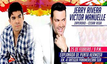 Pulpos: Entrada a concierto de Jerry Rivera & Victor Manuelle, Cesar Vega y Zaperoko