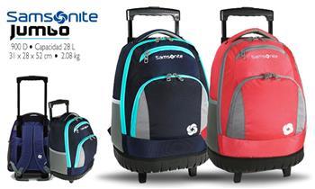Samsonite® Trolley, mochila con ruedas en modelo a escoger + delivery