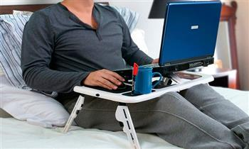 Mesa cooler para laptop plegable