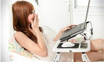 Jesus María: Mesa cooler para laptop plegable
