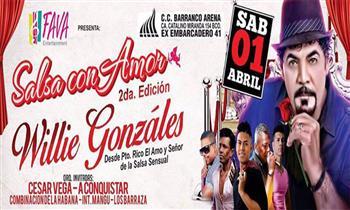 Salsa con Amor 2: 2x1 entradas Super VIP o Platinium, Willie Gonzales, Cesar Vega y más