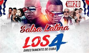 Salsa Latina:Los 4 de Cuba,  Cesar Vega, Son Tentación y más.