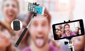 Jesus María: Kit selfie stick + lentes ojo de pez, gran angular y macro 3 en 1