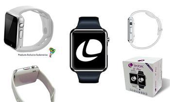 Leotec Smartwatch Sport Blanco o Negro - Pantalla Ips 1.54 -SIM 2G, Silicona