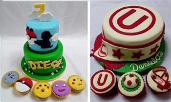 Torta de 12, 20, 30 o 50 porciones personalizada de 1 o 2 pisos