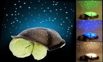Tortuga peluche con proyector de luces musical + pilas